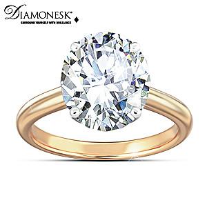 """Class Act"" Celebrity-Inspired Diamonesk Women's Ring"