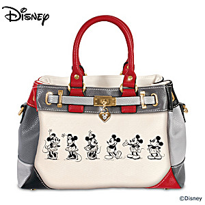 39d025237f Disney Mickey Mouse And Minnie Mouse Love Story Handbag