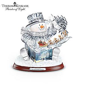 "Thomas Kinkade ""The Gift Of The Holidays"" Crystal Snowman"