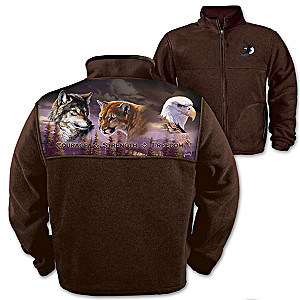 """Wilderness Spirit"" Embroidered Fleece Men's Jacket"