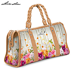 "Lena Liu ""The Garden"" Handbag With Custom Floral Design"