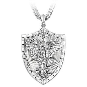 Mens necklaces and pendants triumph of st michael pendant necklace triumph of st michael pendant necklace for sons aloadofball Images