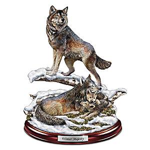 """""""Winter Majesty"""" Wolf Den Sculpture"""