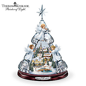 "Thomas Kinkade ""Blessings Of The Season"" Crystal Angel Tree"