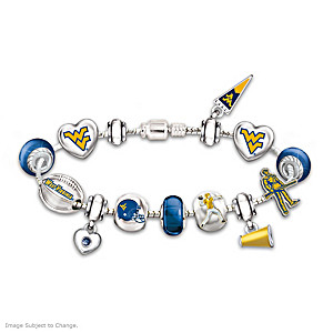 Mountaineers Charm Bracelet With Swarovski Crystals