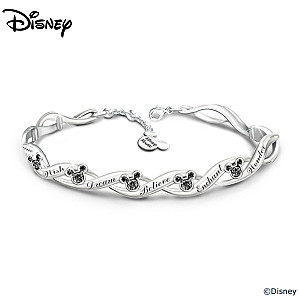 "Disney ""Magical Wishes"" Bracelet With 15 Swarovski Crystals"