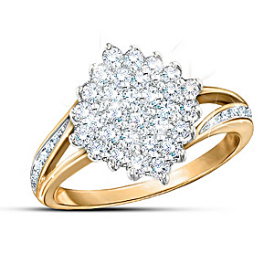 """Diamond Delight"" Ring With Over 1/2-Carat Genuine Diamonds"
