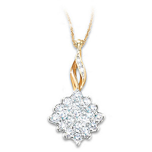 """Diamond Delight"" Necklace With 1/2-Carat Diamond Cluster"
