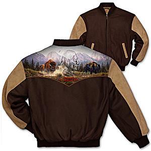 "Al Agnew ""The American West"" Varsity-Style Men's Jacket"