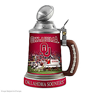 Oklahoma Sooners Commemorative Porcelain Stein