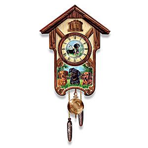 "Linda Picken ""Delightful Dachshunds"" Wall Clock"