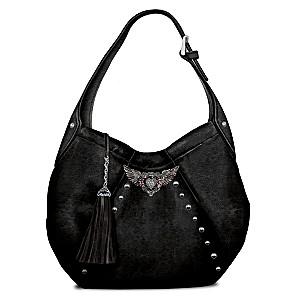 Rock 'N' Roll Hobo-Style Handbag With Rhinestones