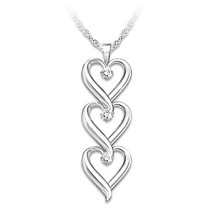 """Daughter I Love You"" Engraved Diamond Pendant Necklace"