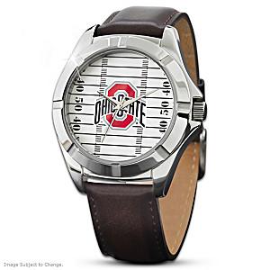 """Go Buckeyes"" Ohio State University Men's Watch"