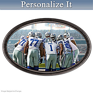 Cowboys Framed Photo Plate With Your Name On QB's Jersey