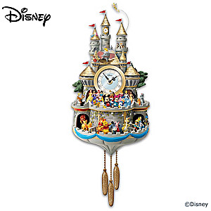 "Disney ""Timeless Magic"" Wall Clock With 43 Friends"