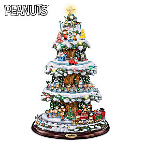 a peanuts christmas tree with lights motion and music - Peanuts Christmas