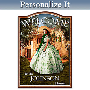 Gone With The Wind Welcome Sign Personalized With Name