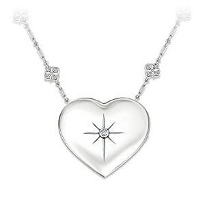 """Grandma's Message Of Faith"" Diamond Pendant & Mirror Set"