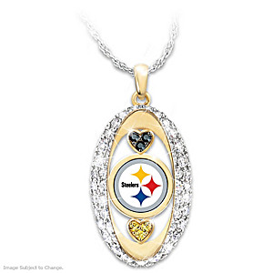 """For The Love Of The Game"" Pittsburgh Steelers Pendant"