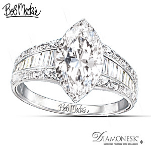 "Bob Mackie ""Art Deco"" 8-Carat Diamonesk Ring"