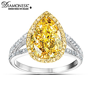 """""""Make Your Own Sunshine"""" Simulated Canary Diamond Ring"""