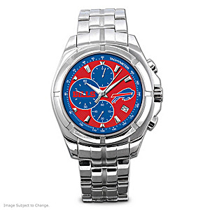 Buffalo Bills Stainless Steel Chronograph Watch