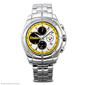 Pittsburgh Steelers Stainless Steel Chronograph Watch