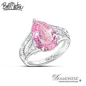 "Bob Mackie ""Pink Beauty"" Diamonesk Ring"