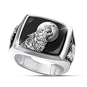 """""""Into The Wild"""" Sculptural Ring With Black Onyx Stone"""