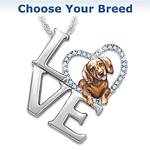 Loving Companion Pendant Necklace: Choose Your Breed