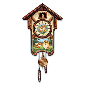 "Linda Picken ""Pretty Pomeranians"" Wall Clock"