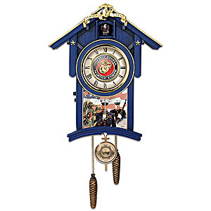 """Semper Fi For All Time"" Wall Clock With Jim Griffin Art"