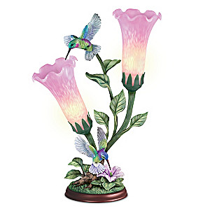 """Lena Liu """"Luminous Wings"""" Art Glass Torchiere Lamp"""
