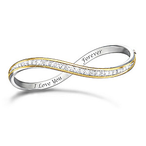 infinity white diamond p context productx gold and bracelet