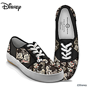 Disney Mickey Mouse And Minnie Mouse Canvas Shoes