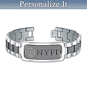 """Duty, Honor & Courage"" Firefighter Custom-Engraved Bracelet"