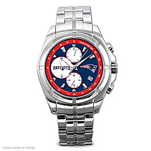 New England Patriots Stainless Steel Chronograph Watch