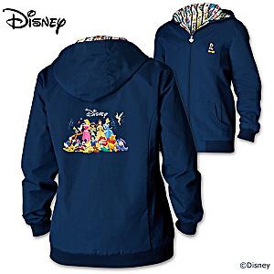 Forever Disney Womens Lightweight Hooded Jacket