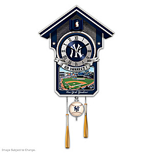"""New York Yankees """"Moments Of Greatness"""" Wall Clock"""