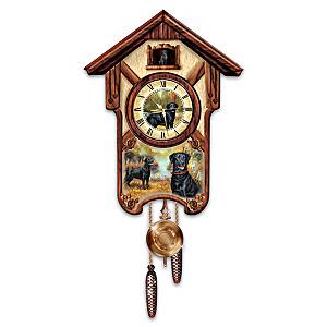 "Linda Picken ""Boisterous Black Labs"" Wall Clock"