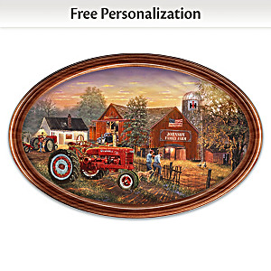 """Family Tradition"" Farmall Personalized Masterpiece Plate"