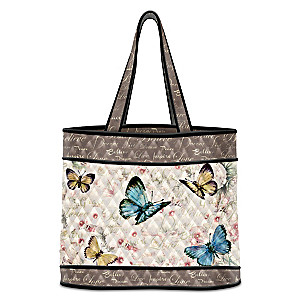 "Lena Liu ""Wings Of Inspiration"" Butterfly Art Tote Bag"