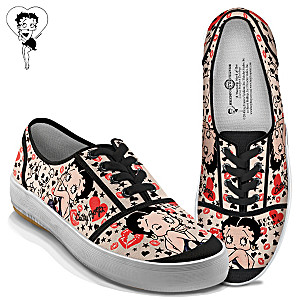 Betty Boop Retro Art Women's Canvas Sneakers