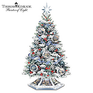 Thomas Kinkade Illuminated Musical Tree Features 14 Artworks