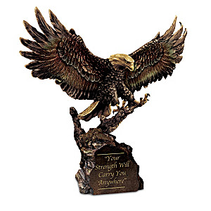 Your Strength Will Carry You Anywhere Bronze Eagle Sculpture