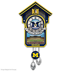 University Of Michigan Wolverines Wall Clock