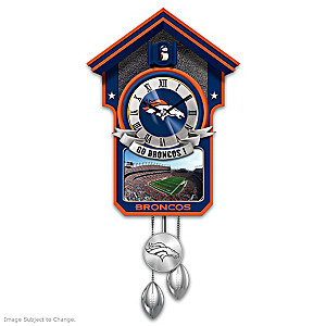 Denver Broncos Tribute Wall Clock