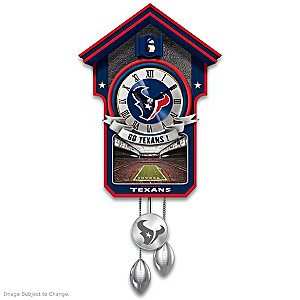 Houston Texans Tribute Wall Clock