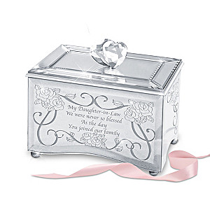Mirrored Music Box And Poem Card For Daughters-In-Law